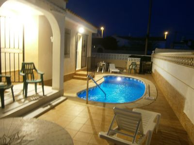Photo for Private detached villa with pool five minute walk to the beautiful beach