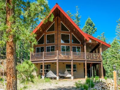 Photo for Beautiful pet friendly cabin with spectacular views! Large wrap around deck so you can enjoy that fr