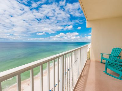 Photo for Corner unit on the 15th floor of the Shores with a pristine view of the Gulf!