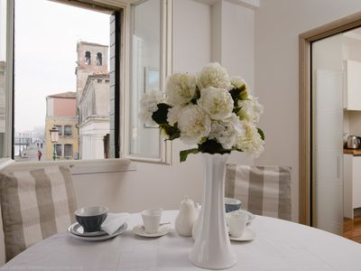 Photo for FABULOUS CANAL VIEWS, CONTEMPORARY DESIGNER APARTMENT IN VENICE 2 BEDS, 2 BATHS