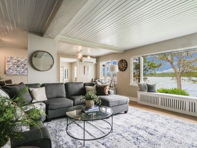 Photo for Ultimate Beach House | Lake Geneva  with Cabana, Private Piers and  Beaches