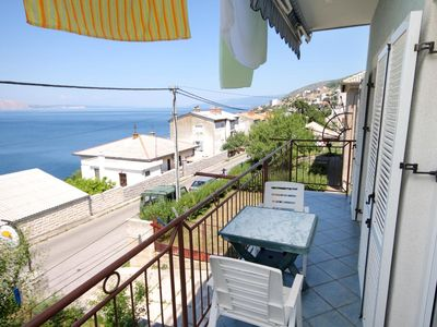 Photo for Studio flat with balcony and sea view Senj