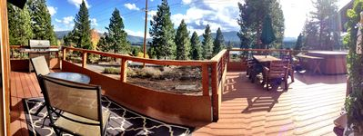 600 square feet of deck and great views!