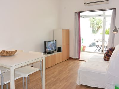 Photo for Flat for 4, Terrace, A/C, halfway sea and center