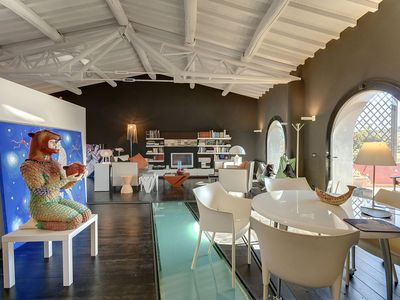 Photo for Stunning Design LOFT in Villa MASSES on an amazing hill near Florence, Tuscany