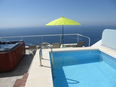 Photo for VILLA with SWIMMING POOL, JACUZZI and HAMMAM. Breathtaking sea view!