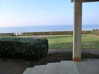 Photo for Grandcampmaisy apartment, 4 rooms, sleeps 6, direct beach access, sea view