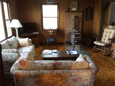 Photo for Cute Mountain Top Cape Cod on 1.3 acres, Central Air Conditioning and Oil Heat !