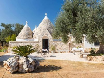 Photo for Trulli near the beach - Big garden - Plays for children - BBq - Privacy - Wifi