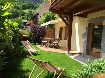 Photo for Village apartment on the ground floor on Lake Annecy