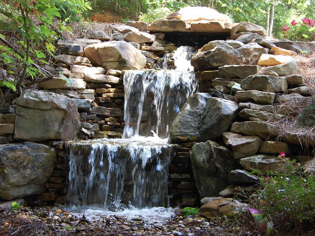 Secluded 20 mile view fire pit waterfall homeaway autos post for Waterfall fire pit