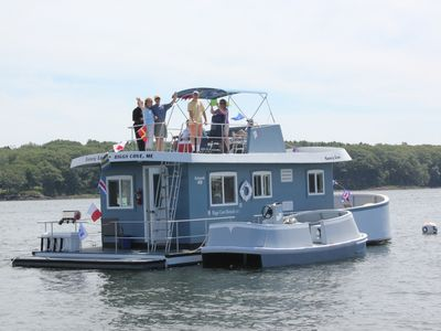 Photo for A Water Getaway.  Vacation On A Houseboat in Maine, A Virtual Private Island.