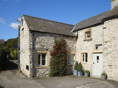 Photo for This pretty limestone semi-detached cottage is in a quiet spot near Bakewell.