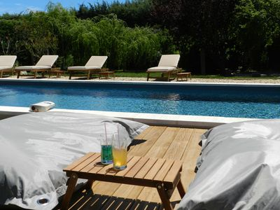 Photo for house with private heated pool