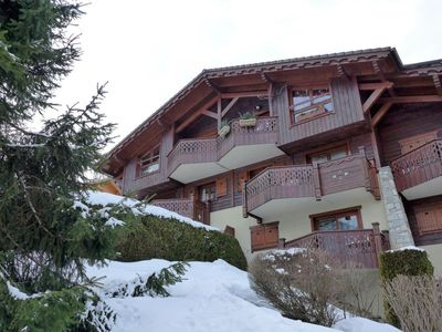 Photo for Apartment in the center of Les Houches with Parking, Internet, Pool, Balcony (141655)