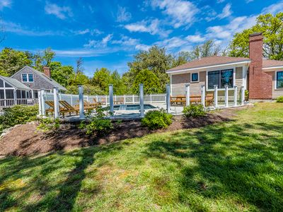 Photo for Orleans Oasis on Pleasant Bay, estate with 2 homes and heated pool; sleeps 14; 137-O