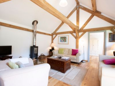 Photo for Pickle Cottage Tenterden - modern, airy converted barn, formerly a pig shed!