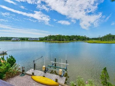 Photo for Gorgeous wired waterfront home with magnificent sunset views.  Kayaks included.