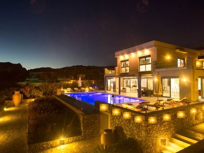 Photo for TOP LUXURY 5 BEDROOM VILLA WITH PRIVATE HEATED POOL AND TENNIS COURT IN PEFKOS