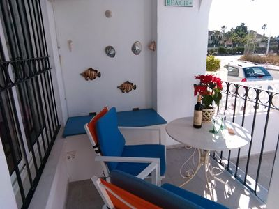 Photo for Ground floor, two bedroom apartment close to the sea,pet friendly. .