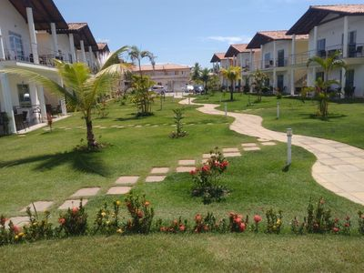 Photo for Residential Dolphins, furnished apt, pool. 250 meters from the beach Taperapuan.