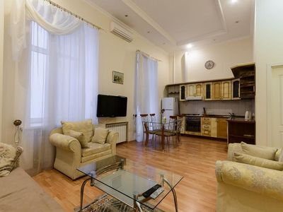 Photo for Apartment in the center of Kiev with Internet, Air conditioning, Lift, Washing machine (405412)