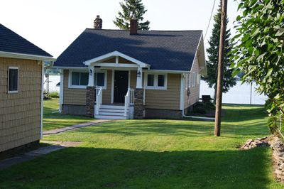 Front of Cottage with 2 car garage