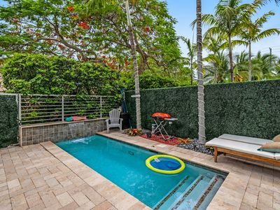 Photo for Dog-friendly, luxury townhome w/ a private pool, balconies, & enclosed yard