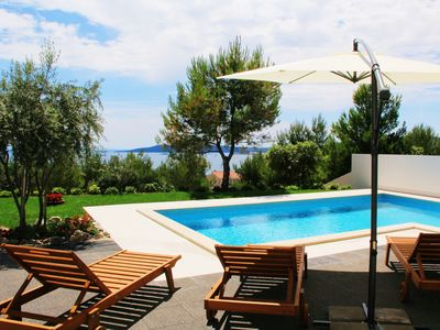 Photo for Charming villa in Trogir with private pool / sea view - 10 persons / 5 bedrooms