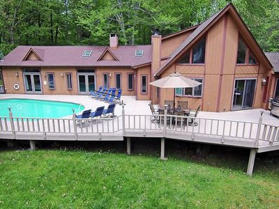 Photo for Lakeview Chalet with Pool, Hot Tub and Fire Pit