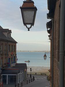 Photo for Apt T3 with garage, street of the port, Cancale, 50 m sea and harbor of Houle