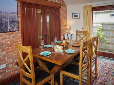 The dining area at the Vine House has an extendable dining table