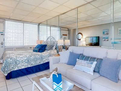 Photo for Gorgeous waterfront studio w/ a shared pool, private balcony, & beach access!