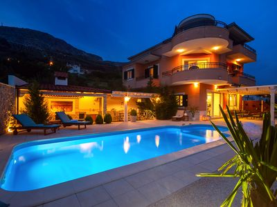 Photo for DISCOUNTED 20%Villa ANITA with private pool, gym, 6 bedrooms, sea view