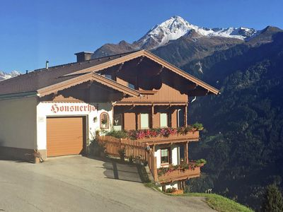 Photo for Beautiful apartment above Mayrhofen-Finkenberg with a magnificent view