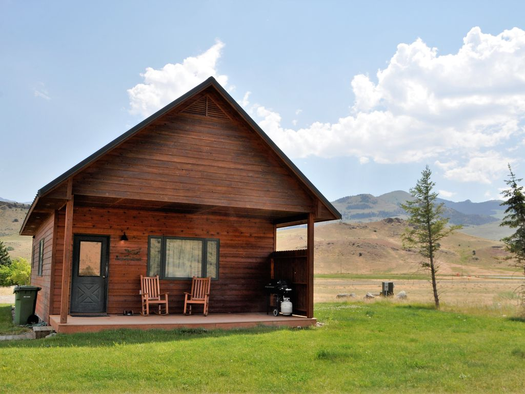 Cabin On The Yellowstone River Near Yellowstone National Park