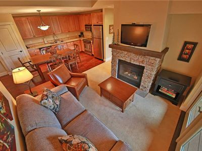 Photo for Gorgeous ski-in/ski-out condo with expansive views and indoor parking