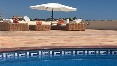 Photo for 800m from the Beach, Magnificent Roof-top Terrace, Private Pool . Air Con , WIFI