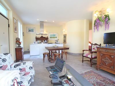 Photo for Flat at 1200 Meters from the Sea, 5 People, 2 Bedrooms, Garden, Terrace