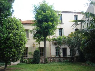 Photo for Maison de maitre, an oasis of greenery 1.7 km from the WIFI beach