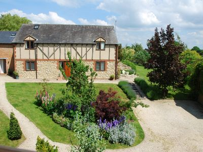 Photo for Little Barn Loft - stylish holiday let in beautiful gardens close to Aylesbury