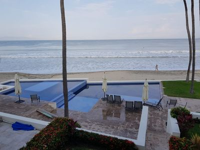 Photo for Luxurious fully equipped  Beachfront house located right on Nuevo Vallarta Beach