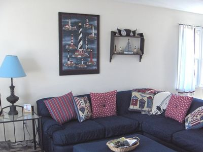 Comfy living room with sectional