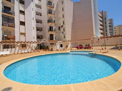 Photo for 3 bedroom Apartment, sleeps 7 with Pool and Walk to Beach & Shops