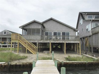 Badger Bungalow:  Sunsets over Pamlico Sound, private boat dock.