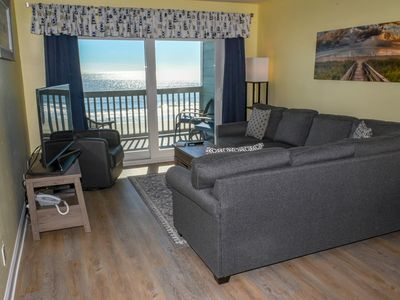 Photo for Crescent Beach. Oceanfront Condo 3 Bedrooms 3 Baths. Sleeps 8. Outdoor pool.