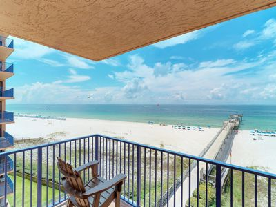 Photo for NEW LISTING! Spacious condo w/ views, shared pool, beach access, & private pier