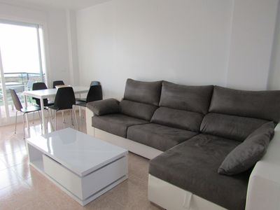 Photo for Luxury apartment sleeps 7, duplex, wifi, air conditioning, pool, parking, 2 toilets