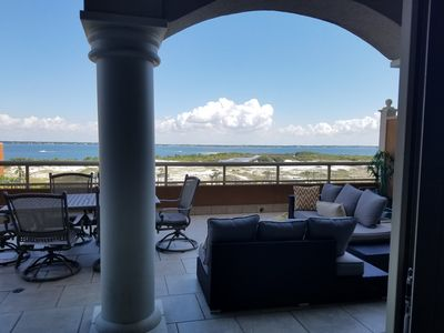 Photo for Rare terrace unit in tower 3 - closest tower to the beach