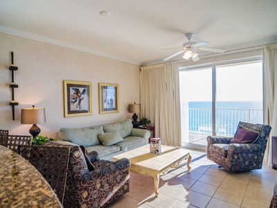 Photo for Artsy Gulf-Front Condo Offers Character